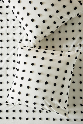 Anthropologie Tufted Makers Euro Sham By in Black Size EURO SHAM