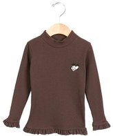 Tartine et Chocolat Girls' Ruffle-trimmed Rib Knit Top w/ Tags