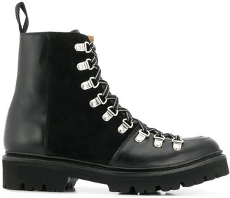 Grenson lace up biker boots