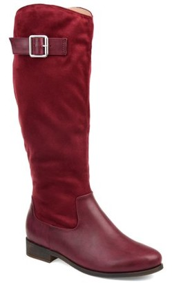 Brinley Co. Womens Comfort Two-tone Riding Boot