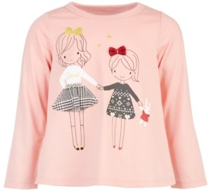 First Impressions Baby Girls Holiday Sisters T-Shirt, Created for Macy's