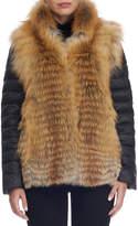 Gorski Red Fox Fur Down Jacket