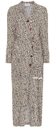 Nanushka Capri Zebra Print Wrap Dress