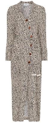 Nanushka capri zebra print wrap dress