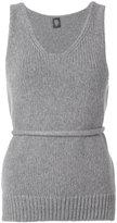 Eleventy v-neck knit tank top - women - Polyamide/Wool - XS