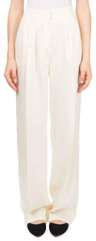 Magda Butrym Caguas High-Waist Draped Trousers