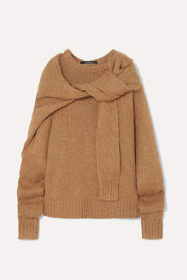 Rokh Tie-front Knitted Sweater - Brown