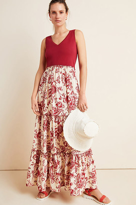 Maeve Trudie Tiered Maxi Dress By in Assorted Size M