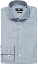 Boss Micro-check Slim-fit Cotton Shirt