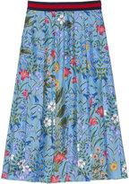 Gucci New Flora print skirt - women - Silk - 40
