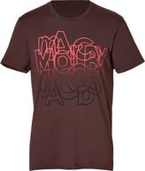 Marc by Marc Jacobs Faded Font T-Shirt in Brown Multi