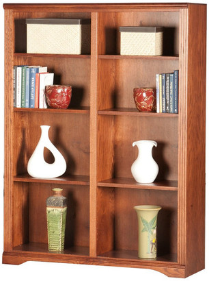 "Eagle Furniture Oak Ridge 60"" Tall, Double Wide Bookcase, Medium Light Oak"