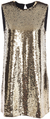 Maje Sequined Crepe Mini Dress