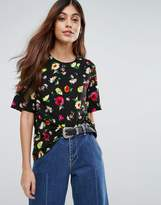Warehouse Floral Boxy Top