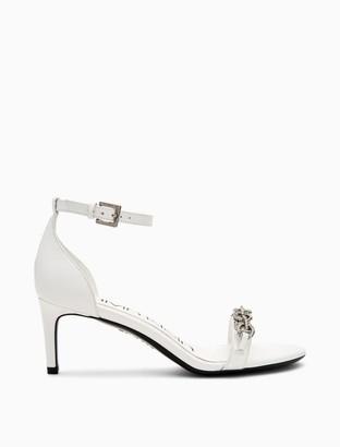 Calvin Klein Reem Leather Heel Sandal