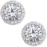Arabella Swarovski Zirconia Halo Stud Earrings in Sterling Silver, Only at Macy's