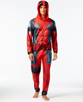 Briefly Stated Men's Deadpool Hooded Jumpsuit Pajamas
