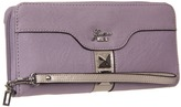 GUESS Gladis Large Zip Around (Lilac Multi) - Bags and Luggage