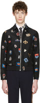 Alexander McQueen Black Badges Bomber Jacket