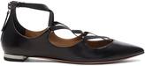 Aquazzura Leather Mischa Flats