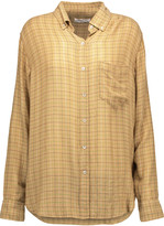 Etoile Isabel Marant Prune checked flannel shirt