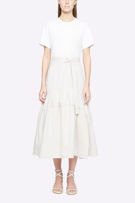 3.1 Phillip Lim T-Shirt Dress With Shirred Skirt