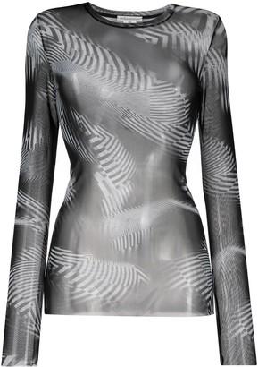Stefano Mortari Abstract-Print Sheer Top
