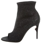 Jerome C. Rousseau Glitter Peep-Toe Ankle Boots w/ Tags