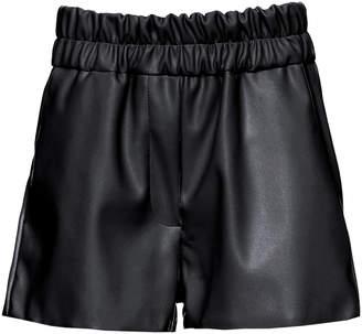 Studio Cut Faux Leather Mini Shorts