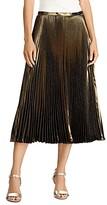 Lauren Ralph Lauren Pleated Metallic Midi Skirt