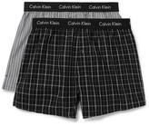 Calvin Klein Underwear Two-pack Cotton Boxer Shorts - Black