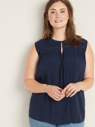Old Navy Sleeveless Plus-Size Pintuck Top