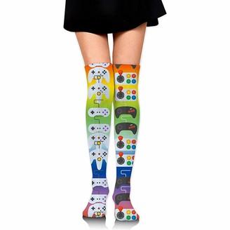 Ulxjll Long Socks Video Game Weapon Funny Gamer Womens Long Socks Stockings Over Knee Thigh High Socks 65Cm