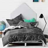 Aura by Tracie Ellis Kids Kami Quilt Cover, Charcoal