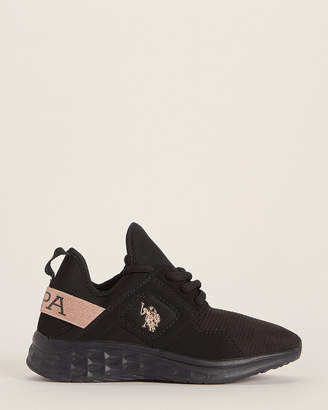 U.S. Polo Assn. Toddler/Kids Girls) Black & Rose Gold Kizzy Low-Top Sneakers