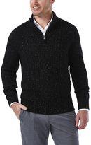Haggar Men's Classic Fit Quarter-Zip Cable-Knit Sweater