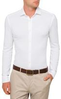 HUGO BOSS Pique Plain Single Cuff Shirt