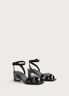 MANGO Violeta BY Strappy heeled sandals black - 9 - Plus sizes