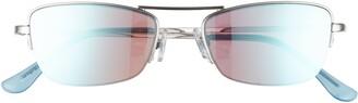 BP 52mm Semi Rimless Rectangular Sunglasses