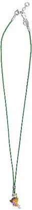 Dora the Explorer 3170971 Children's Necklace with Pendant Rhodium-Plated Silver 925/1000 2.2 g 38 to 40 cm in Green