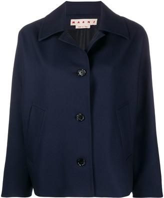Marni Pleat-Detail Wool Jacket