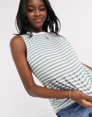 ASOS DESIGN sleeveless smock top in stripe
