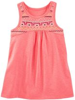 Osh Kosh Toddler Girl Embellished Puff-Print High-Low Tank