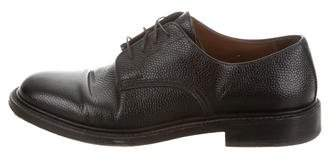 Givenchy Leather Round-Toe Oxfords