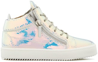 Giuseppe Zanotti Kriss metallic high top sneakers