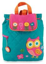 Stephen Joseph Owl Quilted Backpack in Turquoise