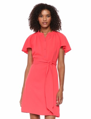 Trina Turk Trina Women's Shana Tie Waist Shirt Dress