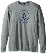 Volcom Men's Stone Logo Branded Long Sleeve T-Shirt