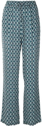 Elie Tahari Zuma geometric print trousers