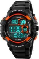 GOHUOS Men's Sport Outdoors Digital LED Light Alarm Dual Time Calendar Chronograph Wrist Watch
